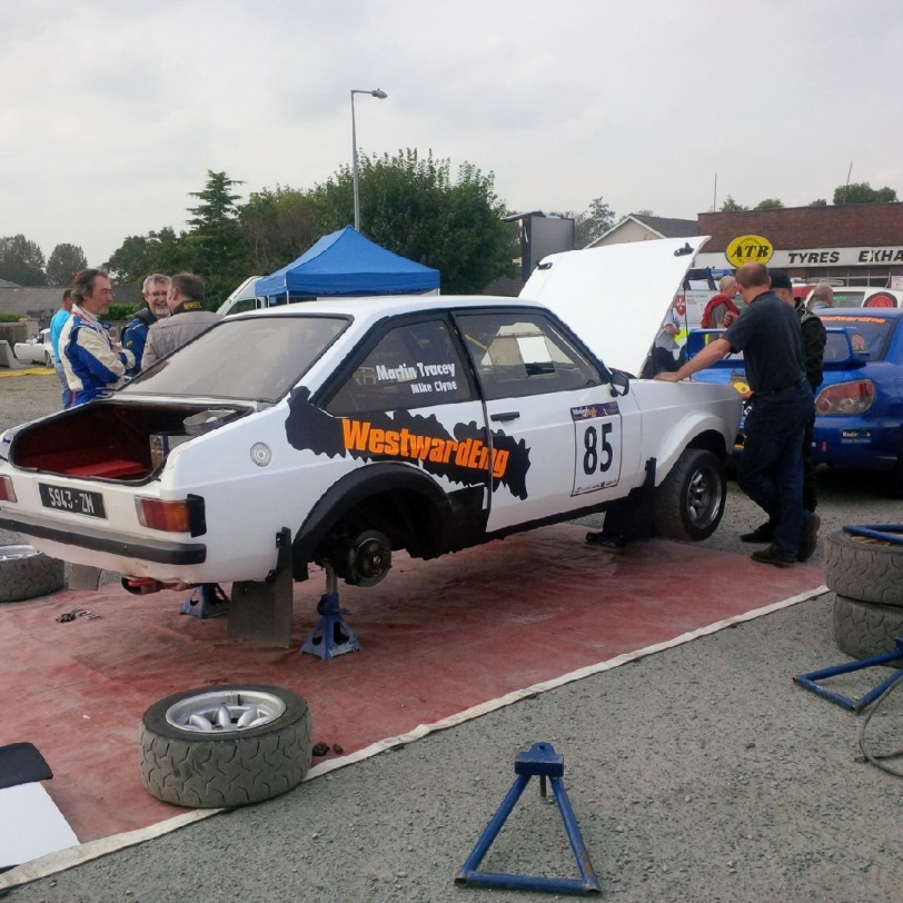 Martin Tracey & Mike Clyne in WestwardEng MK2 - Wexford Stages Rally 2014